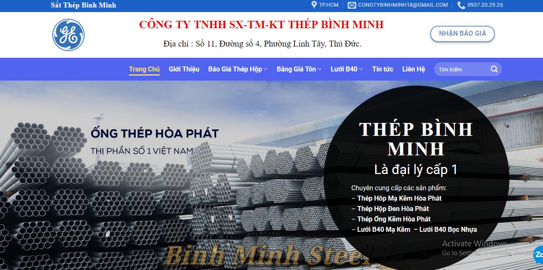 Báo giá thép hộp mạ kẽm tại thép Bình Minh